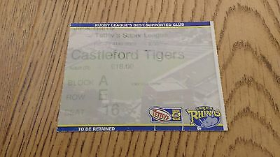 Leeds Rhino v Castleford Tigers 2004 Used Rugby League Ticket