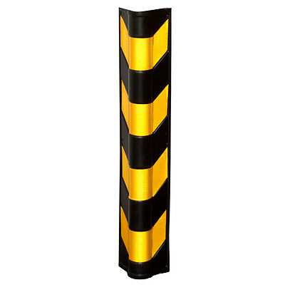 """31-1/8"""" x 4-1/2"""" Rounded Heavy Duty Rubber Corner Wall Guard"""