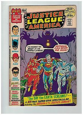 JUSTICE LEAGUE OF AMERICA 97 VG+ Mar. 1972