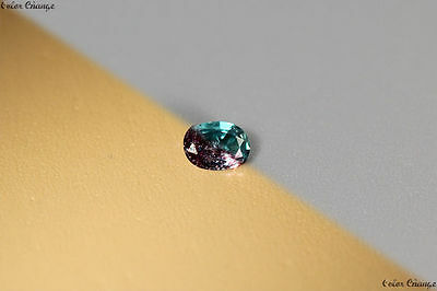 0.130 Ct Unique 100% Nr' Dancing Color Change Alexandrite Gemstone Aaa Oval !!!!