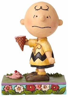 Jim Shore Peanuts Melting Point Charlie Brown with Ice Cream Figurine 4055657