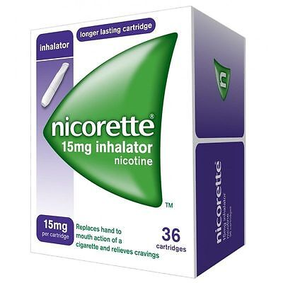 2 x boxes  36 Nicorette Inhalator