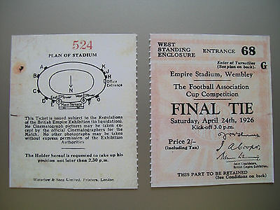 1926 F.A. Cup Final Ticket Bolton Wanderers v Manchester City Mint condition