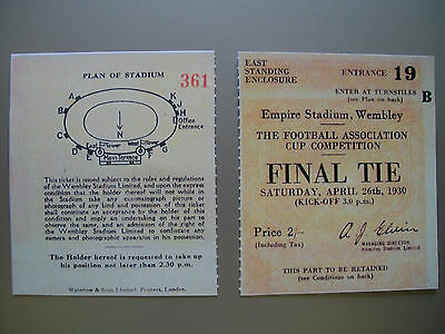 1930 F.A. Cup Final Ticket Arsenal v Huddersfield Town Mint condition