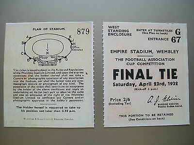 1932 F.A. Cup Final Ticket Newcastle United v Arsenal Mint condition