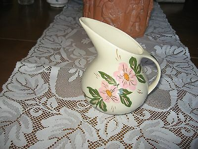 Clinchfield Artworks Cash Family  Pitcher Pink Flowers Hand Painted In Erwin Tn