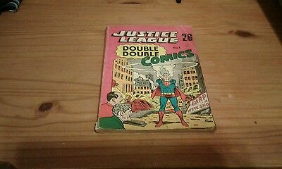 Silver age rare edition Justice league ,1st issue DOUBLE DOUBLE COMICS ,1966.