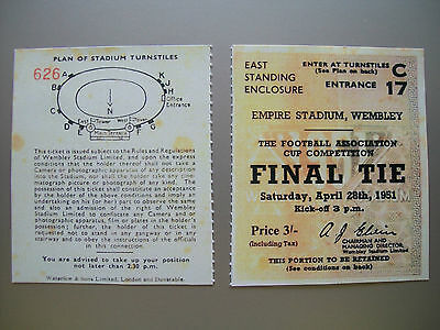 1951 F.A. Cup Final Ticket Newcastle United v Blackpool Mint condition