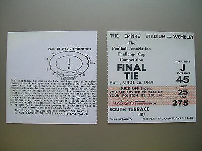 1969 F.A. Cup Final Ticket Manchester City v Leicester City mint condition