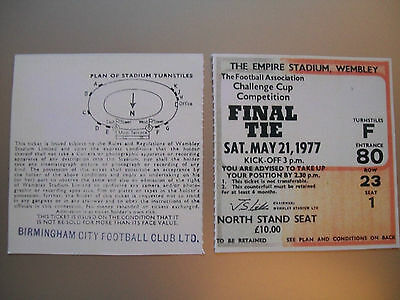 1977 F.A. Cup Final Ticket Manchester United v Liverpool mint condition.