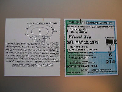 1979 F.A. Cup Final Ticket Arsenal v Manchester United mint condition.