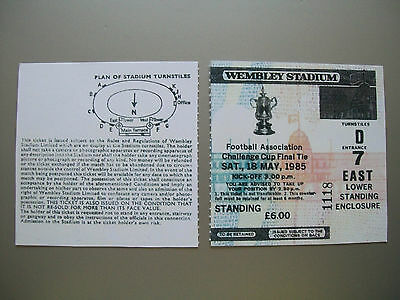 1985 F.A. Cup Final Ticket Manchester United v Everton Mint condition