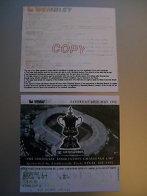 1995 F.A. Cup Final Ticket Manchester United v Everton mint condition.