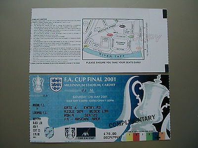 2001 F.A. Cup Final Ticket Liverpool v Arsenal mint condition.