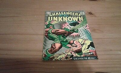 CHALLENGERS of the UNKNOWN  V1 #56   VG/ VG+ 12 cents  1967  D.C AMERICAN COMIC