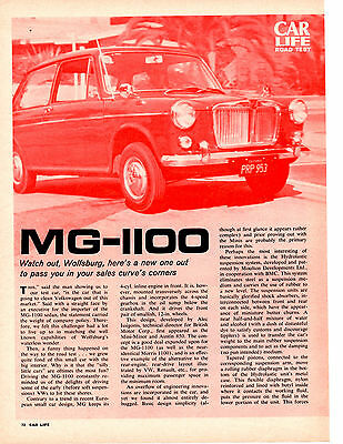 1963 Mg-1100 ~ Original 8-Page Road Test / Article / Ad