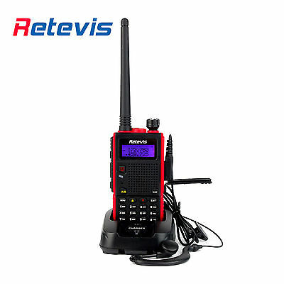 Retevis Dual Band 136-174+400-520MHz 8W 128 Channel Scan VOX DTMF 2 Way Radio CA