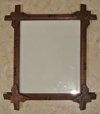 "Vintage Tramp Rectangular Wood  Frame with Glass 16-1/4"" High"