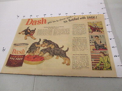 newspaper ad 1940s DASH Armour dog food puppies Cheerios Lone Ranger cereal box