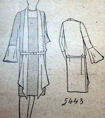 RARE VTG 1920s DRESS Sewing Pattern BUST 40 OLD DEADSTOCK