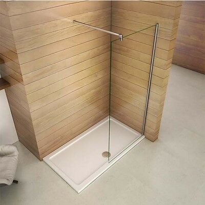 Walk in Wet Room Shower Enclosure Easy Clean Glass Screen Cubicle Panel 1950mm