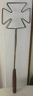 Vintage Antique Wire W/Wood Handle Early 1900s Bread Slice Toaster Primitive