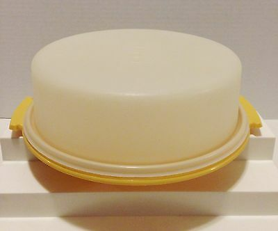 Tupperware Vintage Single Tier Cake Carrier # 719 In Harvest Gold