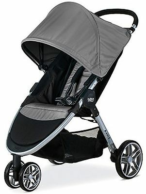 Britax B-AGILE 3 Lightweight One Hand Fold Single Stroller Steel New 2017