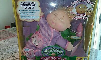 Cabbage Patch Kids Baby So Real Interactive Doll With Box !!!