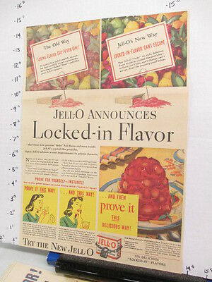 newspaper ad 1941 American Weekly JELLO JELL-O gelatin dessert LOCKED IN