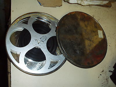 VINTAGE MYSTERY 8mm FILM ON ALLOY SPOOL IN METAL CASE, IPSWICH TURNERS ON LABEL