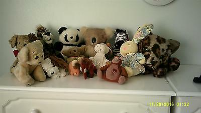 Soft animal toys-job lot of 15