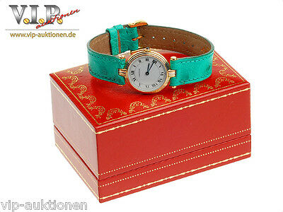 Cartier Trinity Vendome Montre Uhr Golduhr Damenuhr 18K/750 Solid Gold Watch+Box