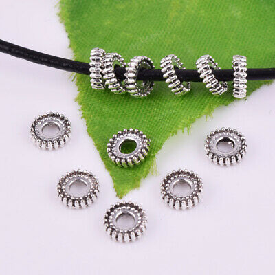 Tibetan Silver Gaskets Charm Spacer Beads Metal Jewelry Findings 6x1.5mm