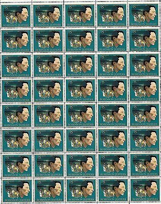 1973 - ROBINSON JEFFERS - #1485 Full Mint -MNH- Sheet of 40 Postage Stamps