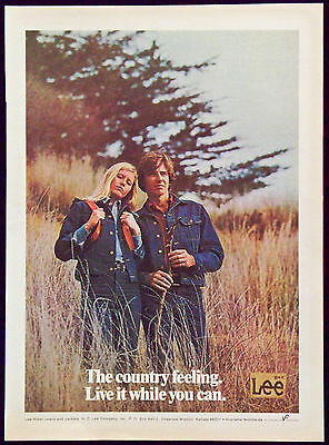 1973 Lee Rider Jeans and Jackets Magazine Ad The Country Feeling