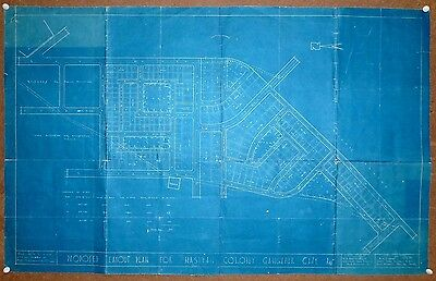 """India 1954 Survey Map of the proposed NASIYAN COLONY Gangapur 22"""" x 35"""""""