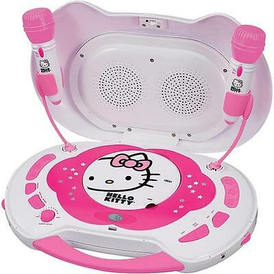 Hello Kitty KT2003CA Karaoke System with CD Player, White