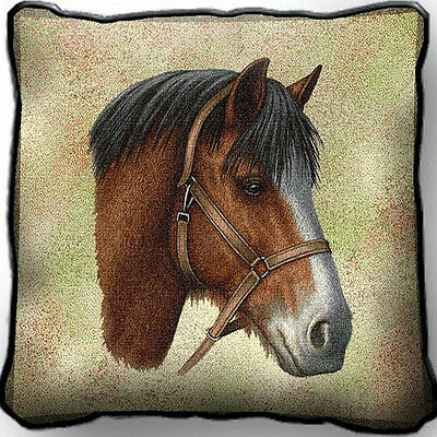 "17"" x 17"" Pillow - Clydesdale 1738"