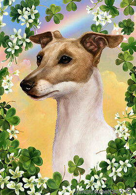 Large Indoor/Outdoor St. Patrick's Flag - Fawn Italian Greyhound 31065