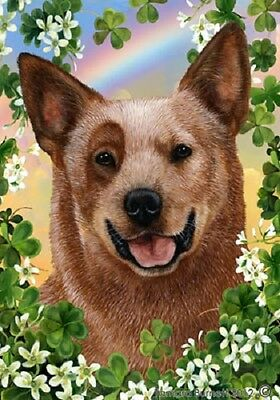 Large Indoor/Outdoor St. Patrick's Flag - Red Australian Cattle Dog 31281