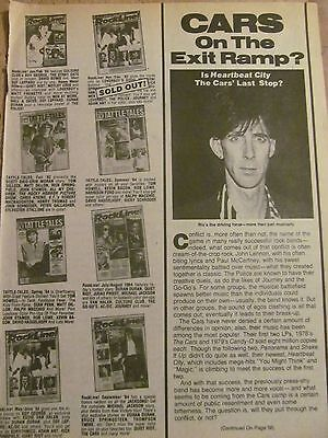 The Cars, Full Page Vintage Clipping