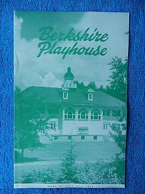 Jane - Berkshire Playhouse Theatre Playbill - July 27th, 1953 - Bruning