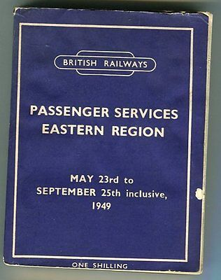 British Railways: Eastern Region: Passenger Services: May to Sept, 1949