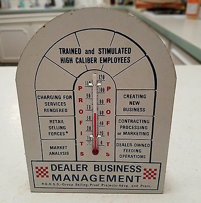Vintage 1967 Souvenir Ad Thermometer, Metal  PURINA Business Convention, WORKS!