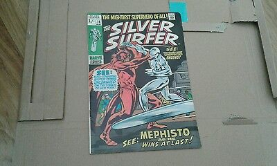 SILVER SURFER #16 (John Buscema)mephisto appearance,  1970, scarce