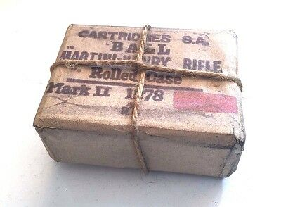 Vintage Cartridge Box  Martini Henry Ball Rolled Case Mark Ii 1878 Old Film Prop