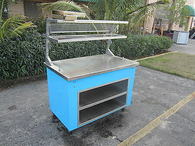 Portable Mobile Food Buffet Counter Delfield Shellyglas Stainless Steel Top