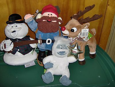 """50Th Anniversary Rudolph And Misfit Toys 4 Total New With Tags & Book 12""""-15"""""""
