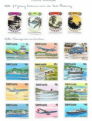 St Lucia stamps 1980 Collection of 25 stamps  HIGH VALUE!